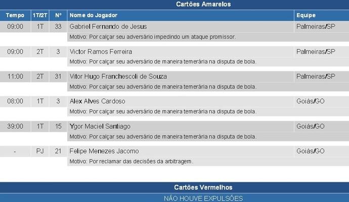 Súmula: Felipe Menezes força terceiro cartão amarelo (Foto: Reprodução/CBF)