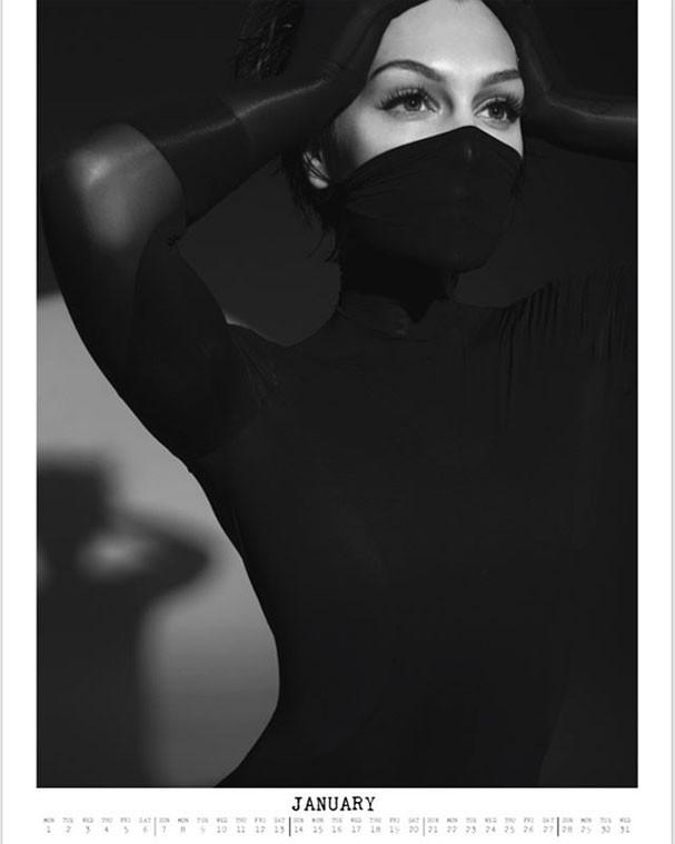 Jessie J em imagem do mês de janeiro (Foto: Reprodução/Instagram)
