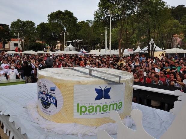 Queijo será exibido e degustado no próximo sábado (29) na Praça Coronel Calhau em Ipanema. (Foto: Divulgação/Ascom Ipanema)