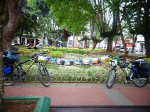 Ciclistas viajam mais de 11 mil km pela América do Sul (Foto: Divulgação/Saindo da Casinha)
