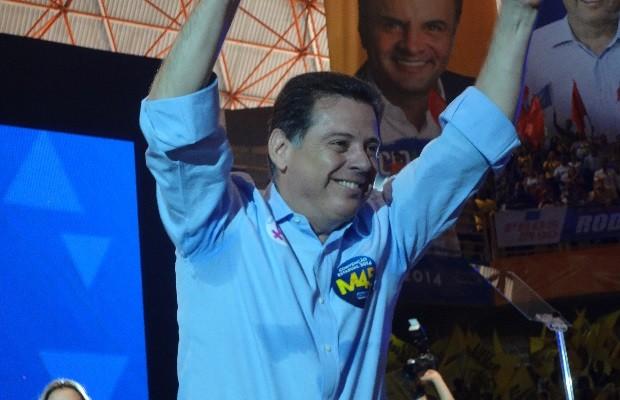 Marconi Perillo, candidato ao governo de Goiás em convenção do PSDB (Foto: Sílvio Túlio/G1)