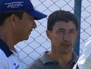 Betinho retornou ao trabalho no Confiança (Foto: Reprodução/TV Sergipe)