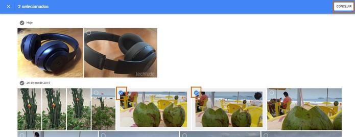 Adicione novas fotos no álbum pelo Google Fotos (Foto: Reprodução/Barbara Mannara)