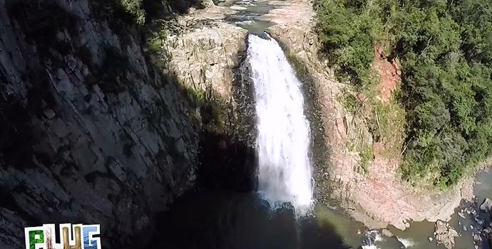 Olha a cachoeira que te espera! (Foto: reprodução/RPC)