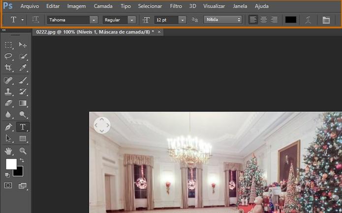 A interface do Photoshop CS6 é bem completa e a barra do topo concentra as configurações (Foto: Reprodução/Barbara Mannara)