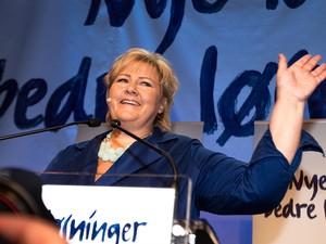 Erna Solberg (Foto: Audun Braastad/AFP)