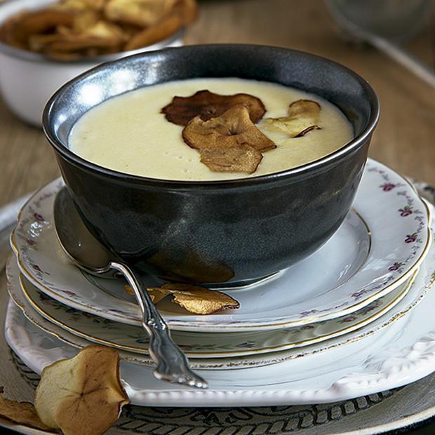 Sopa de queijo gruyère com maçã (Foto: Cacá Bratke/Editora Globo)
