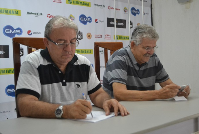 ABC Judas Tadeu, presidente - Leonardo Arruda, vice-presidente de futebol (Foto: Jocaff Souza/GloboEsporte.com)