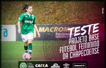 Chapecoense inicia projeto de base para futebol feminino e agenda teste