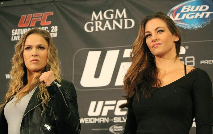 Ronda Rousey Miesha Tate encarada UFC Las Vegas (Foto: Evelyn Rodrigues)