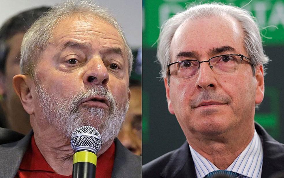 O ex-presidente Luiz Inácio Lula da Silva e o deputado cassado Eduardo Cunha (PMDB-RJ) (Foto: Nelson Antoine/Frame/Estadão Conteúdo e Marcelo Camargo/Agência Brasil)