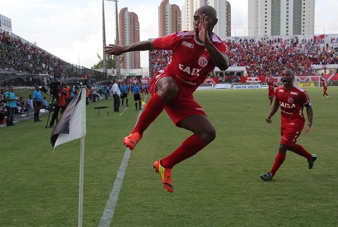 Flávio Boaventura - zagueiro do América-RN (Foto: Augusto Gomes/GloboEsporte.com)