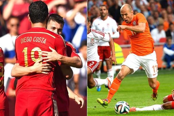 Às 16h, a atual campeã do mundo Espanha joga contra a Holanda, na Arena Fonte Nova, em Salvador (Foto: globoesporte.com)