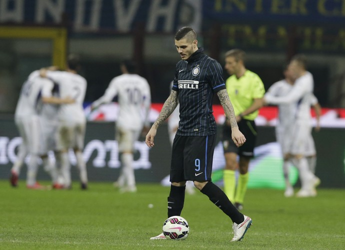 Icardi Inter de Milão x Fiorentina (Foto: AP)