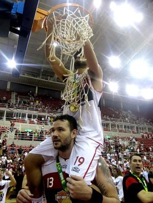 basquete nbb Gegê e caio torres flamengo final (Foto: Gabriel Fricke)