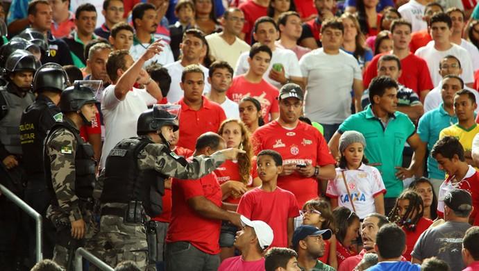 américa-rn x flamengo (Foto: Alexandre Lago/GloboEsporte.com)