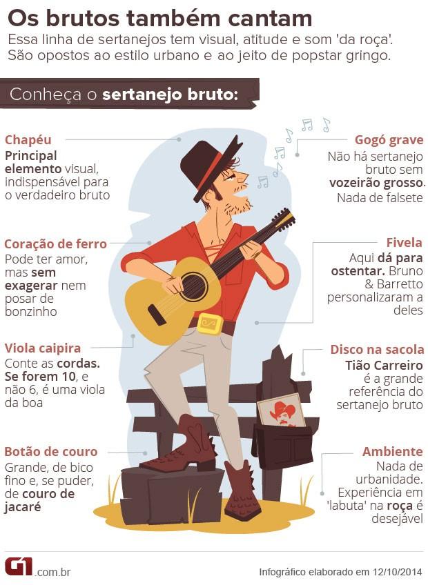 Arte sertanejo bruto (Foto: Arte G1)