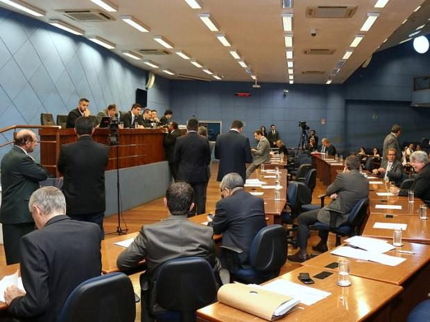 Parlamentares durante sessão extraordinária, em Campinas (Foto: Câmara dos Vereadores de Campinas)
