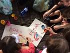 Mães levam filhos e fazem ato contra Temer na Avenida Paulista