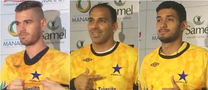 Nacional- goleiros de 2015 (Foto: GloboEsporte.com)