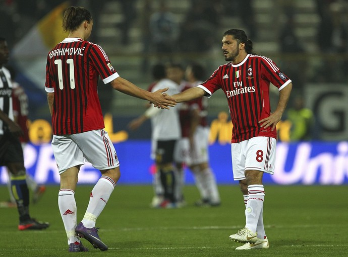 Ibrahimovic e Gattuso no Milan (Foto: Getty Images)
