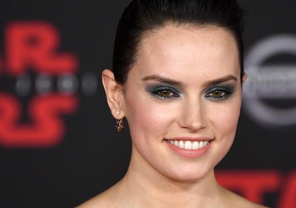 "Daisy Ridley na première do novo ""Star Wars"" (Foto: Getty Images)"