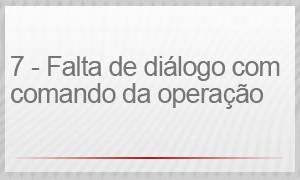 7 – FALTA DE DIÁLOGO COM O COMANDO DA OPERAÇÃO (Foto: G1)