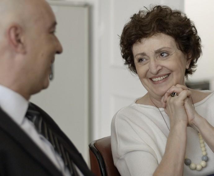 Hilda também se emociona (Foto: TV Globo)