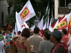 Manifestantes fazem ato pró-Dilma e contra o impeachment no Maranhão