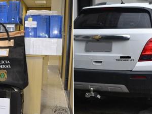 Operação Dominação II apreendeu documentos e veículos (Foto: Divulgação/Polícia Federal)