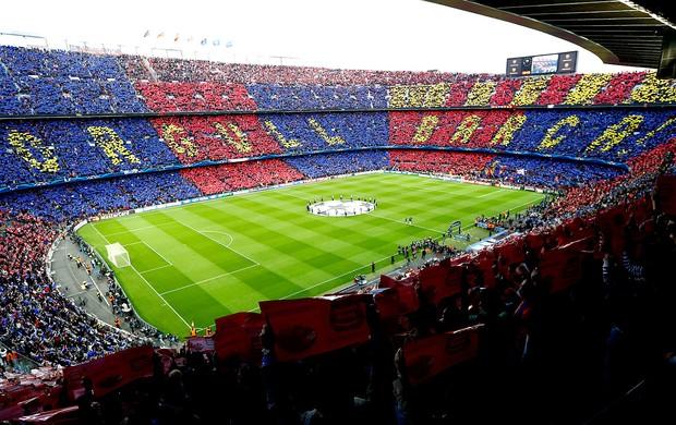 torcida Barcelona jogo Bayern Liga dos Campeões (Foto: AFP)