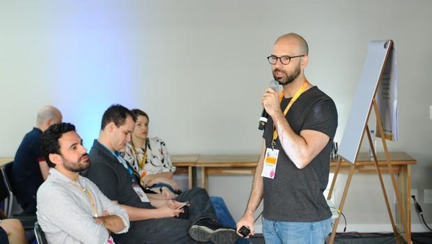 Pedro Waengertner, fundador da ACE, durante o Festival de Cultura Empreendedora (Foto: Rafael Jota/Editora Globo)