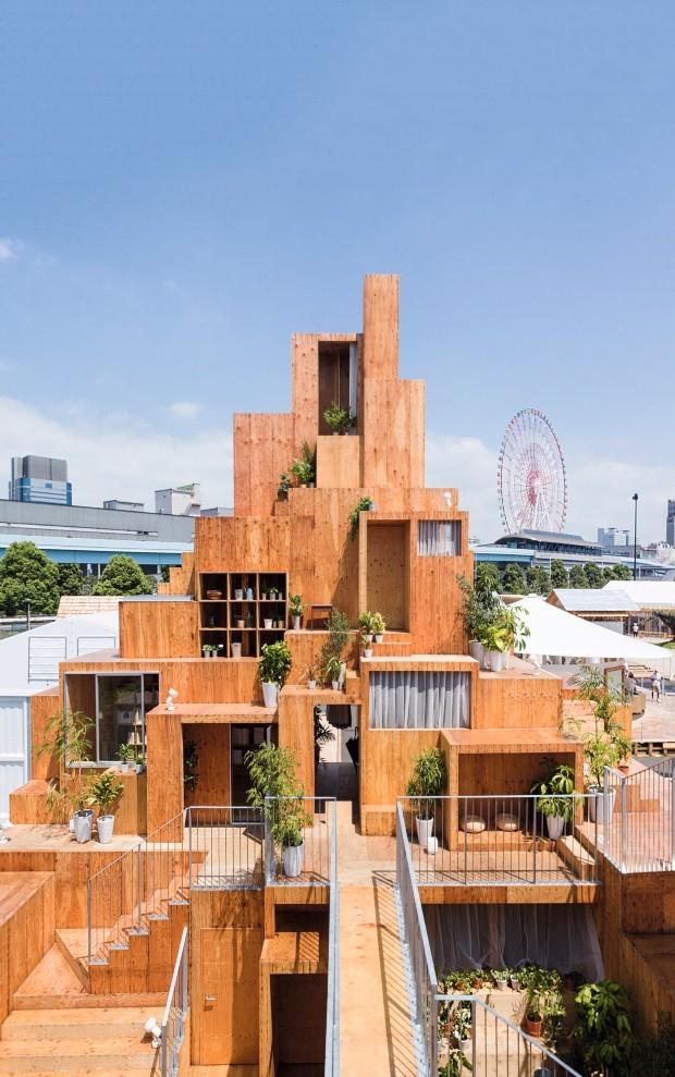 Futuro. Dentro do tema Coindividual, o projeto de Sou Fujimoto para o House Vision 2016 mistura áreas privadas e compartilhadas (Foto: Iwan Baan Sou Fujimoto / Divulgação)