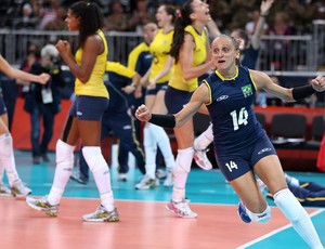 fabi v&#244;lei londres 2012 olimpiadas (Foto: Getty Images)