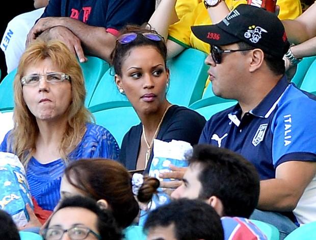 Fanny Neguesha namorada Balotelli jogo Brasil Itália (Foto: Getty Images)