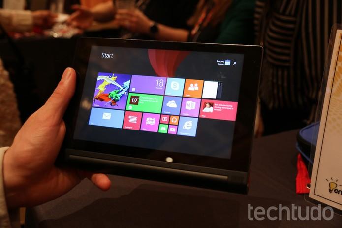 Yoga Tablet 2 agora com tecnologia AnyPen (Foto: Isadora Díaz/TechTudo)