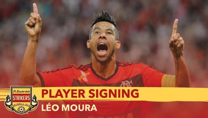 Léo Moura oficial Strikers (Foto: Reprodução/Site oficial do Strikers)