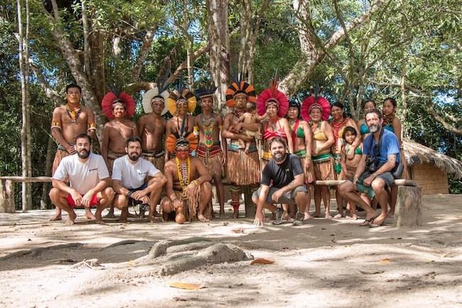 Equipe Miramundos foi recebida pelos Pataxós da Reserva da Jaqueira