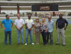 Delegações aprovaram a estrutura do Estádio Olímpico Mangueirão (Foto: Gustavo Pêna/GLOBOESPORTE.COM)