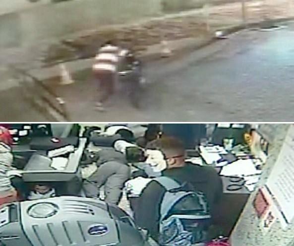'Herói anônimo' esconde moto e evita fuga de assaltantes (Foto: Reprodução / Inter TV)