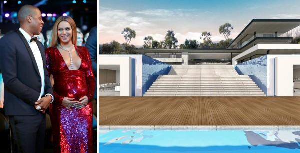 Uma foto da mansão que Beyoncé e Jay-Z pretendem comprar em Los Angeles (Foto: Getty Images/Reprodução)