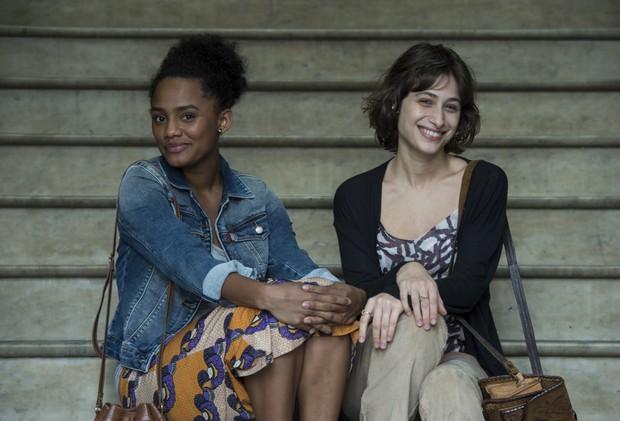 Jéssica Ellen e Luisa Arraes vivem as duas amigas Rose e Débora, respectivamente, em Justiça (Foto: Globo/Estevam Avellar)