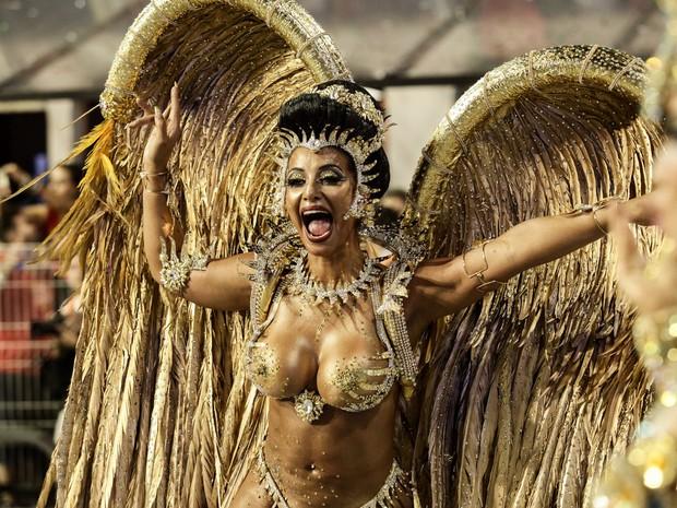 Cinthia Santos - Águia de Ouro (Foto: Caio Kenji/G1)