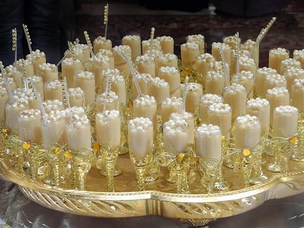 Copinhos com doce de amêndoas (Foto: Gabriela Duarte / Gshow)