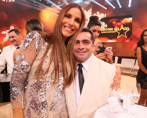Ivete e Maradona  (Foto: Carol Caminha/ Gshow)