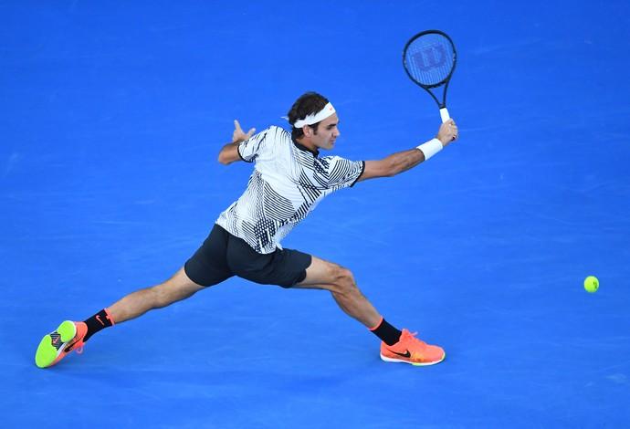 Roger Federer espera ampliar a sua coleção de Grand Slams para 18 - final Aberto da Austrália - tênis (Foto: Getty Images)