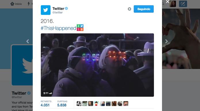 Twitter revela top 10 hashtags e retrospectiva de 2016 (Foto: Divulgação/Twitter)
