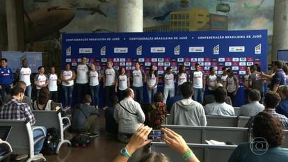 Seleção brasileira de judô se apresenta para as Olimpíadas no Rio
