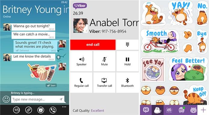 Viber é gratuito e oferece troca de mensagens por textos, adesivos e chamadas de voz (Foto: Divulgação/Windows Phone Store)