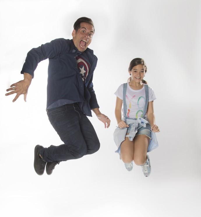 Leandro Hassum e Mel Maia voam em ensaio fotográfico (Foto: Raphael Dias / Gshow)